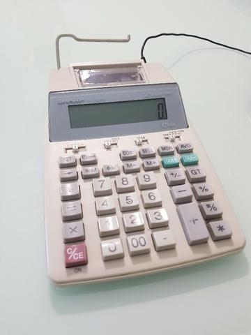 Calculadora Sharp com bobina