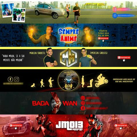 Logo + Banner / Capa Para Canal No Youtube - Entrega Em 24h