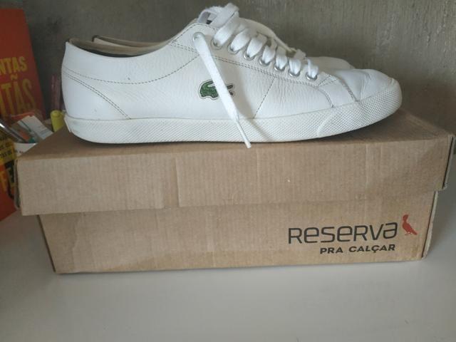 7122c6fb9e4 Tênis Lacoste branco n.40 - Roupas e calçados - Ferraz de ...