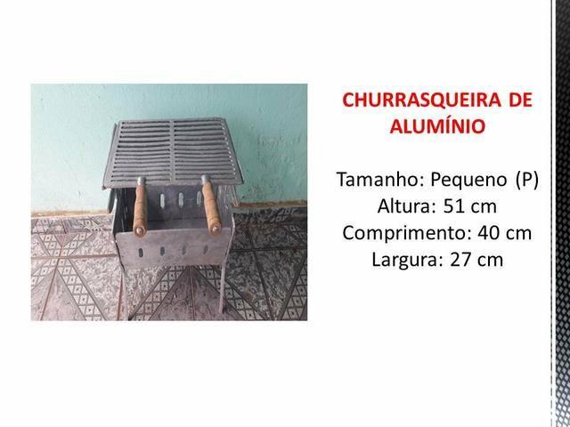 CHURRASQUEIRA pequena de alumínio batido - Foto 4