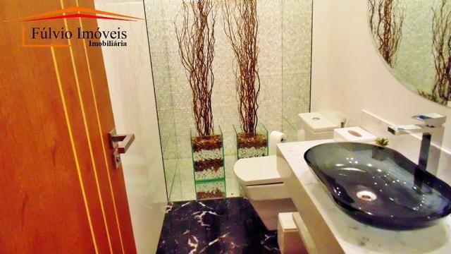 Magnífico sobrado moderno de alto padrão, 4 suítes, completo em armário e salão gourmet - Foto 16