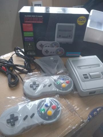Super Mini Sfc Com 620 Jogos 8-bit E 2 Controles - Foto 2