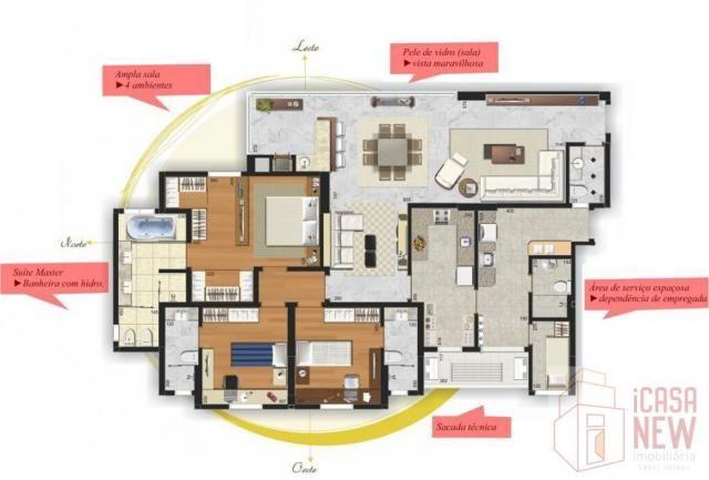 Apartamento para Venda em Curitiba, Cabral, 3 dormitórios, 3 suítes, 5 banheiros, 2 vagas - Foto 5