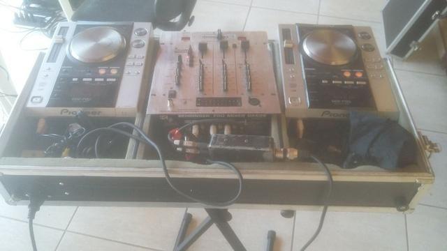Par de cdj pionner 200 + mixer + case - set completo. **linktr.ee/pimentasonorizacao - Foto 6