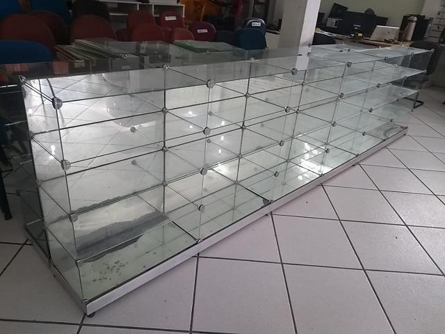 Balcão/Expositor de vidro temperado usado. Ótimas condições - Foto 4