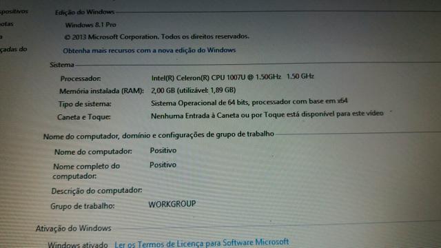 Notebook Positivo Celeron Dual Core 1.50 Ghz R$ 240,00