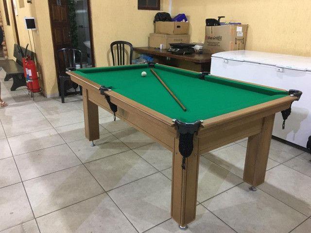 Mesa Tentação Carlin Cor Cerejeira Tecido Verde Mod. HXWI9599 - Foto 2