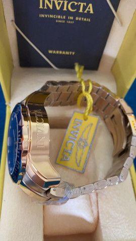 Relógio Invicta Pro Diver Lançamento Dourado a prova d'água - Foto 3