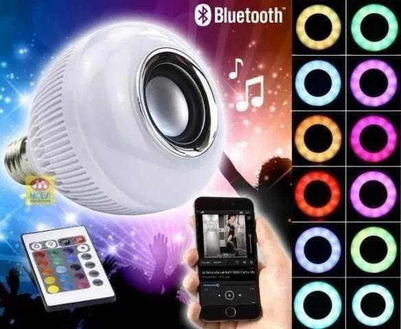Lâmpada musical bluetooth + controle remoto