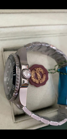 Relógio Rolex Submariner Fundo Preto Automático a prova d'água Completo - Foto 3