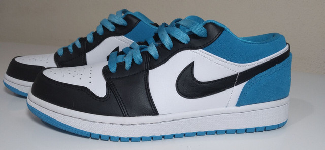 "Tênis Nike Air Jordan 1 low ""laser blue"" - Foto 4"
