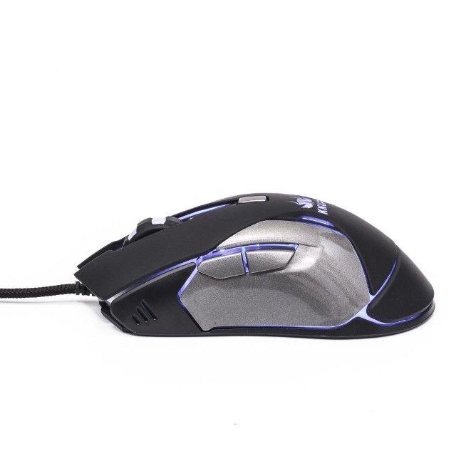 Mouse Gamer Knup V34 Para Jogos Óptico 6 Botões Led - Foto 3