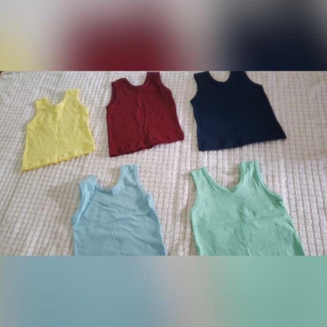 kits de camisetas e calças de algodão paea bebê de 0 a 8 meses. - Foto 6