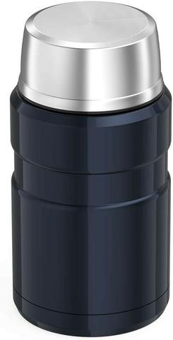 Marmita Térmica 710 ml Inox Thermos 14h Quente 24h Frio Azul - Foto 3