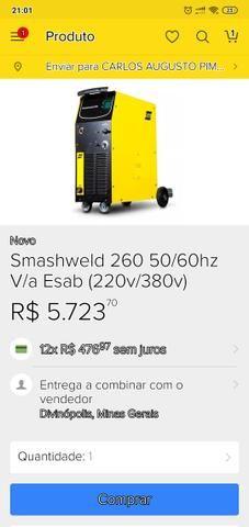 Máquina de solda ESAB Smashweld 260 MIG/Mag - Foto 2