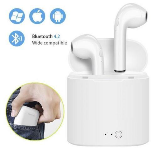 Fone de Ouvido EarPods I12s Bluetooth Android celular - Foto 2