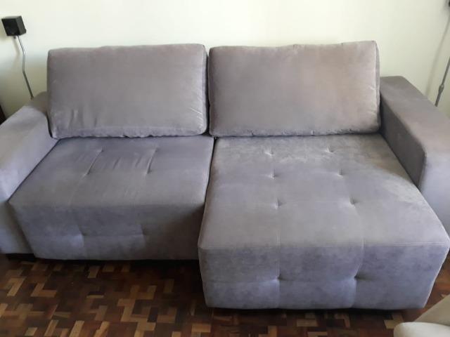 Sofá seminovo confortável