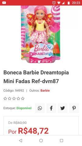 Barbie e fadinha Barbie dreamtopia