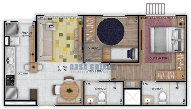 Apartamento à venda no bairro Chácaras da Ge em Goiânia/GO - Foto 8