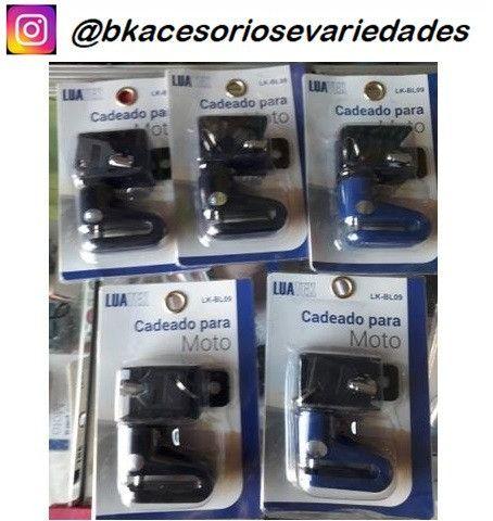 Cadeado Trava De Disco p/ Moto C/ Chave Luatek ?BL09- Aceitamos cartão de Crédito - Foto 6