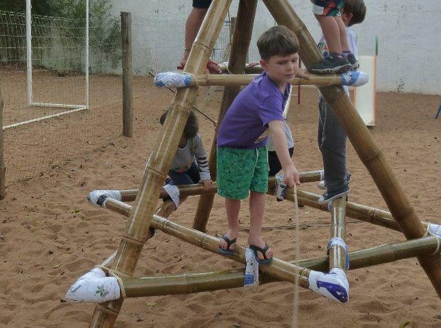 Pirâmide De Bambu Crossfit Yoga Playground - Foto 2