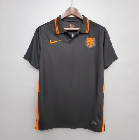 Camisa Seleção Holandesa 20/21 PRETA