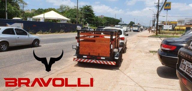 Carretinha 2 eixos ' Brasil é BRAVOLLI  - Foto 2
