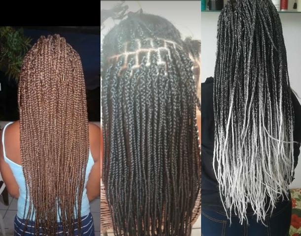 Tranças, dreads, box braids, mega hair etc - Foto 4