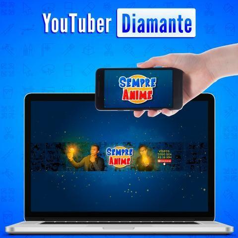 Youtuber Diamante | Identidade Visual Completa + Camisa, adesivos e cartões + 8 Bônus - Foto 3