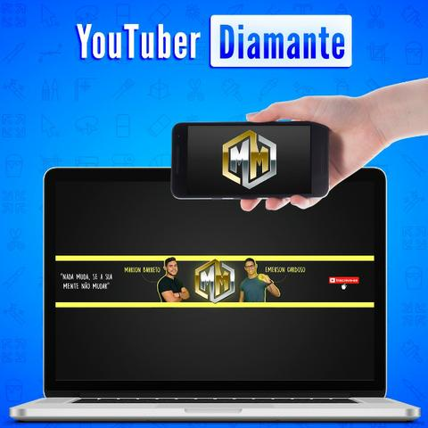 Youtuber Diamante | Identidade Visual Completa + Camisa, adesivos e cartões + 8 Bônus - Foto 5