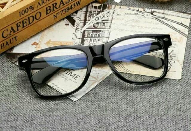 18d80a00c Armação de óculos grau quadrado estilo rayban unissex - Bijouterias ...