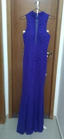f8c5c526af605 Vestido Azul Royal De Festa (G) Todo De Renda - Roupas e calçados ...