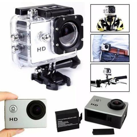 Câmera Esporte 1080p Actioncam + Cartao 32gb + Acessórios - Foto 2