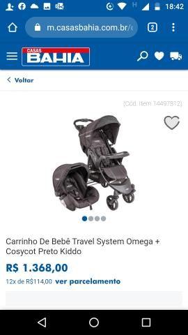 NOVO: Carrinho de bebê e Bebê Conforto - KIDDO - Foto 5