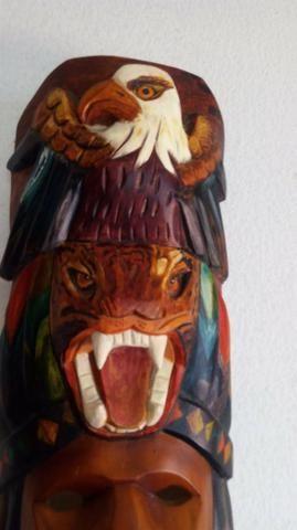 Caranca peruana em madeira entalhada ( peça única ) - Foto 3
