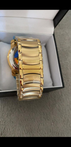 Relógio BVLGARI Skeleton Fundo Azul a prova d'água - Foto 6