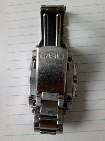 Relógio Casio Cronógrafo caixa retangular Raro. Baixei o Preço! - Foto 3