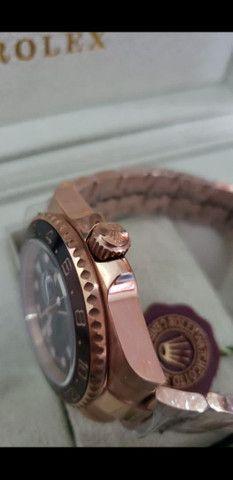 Relógio Rolex GMT Master II Rose Automático a prova d'água - Foto 3