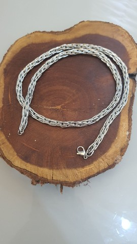 Colar cordão de aço estilo indiano de bali