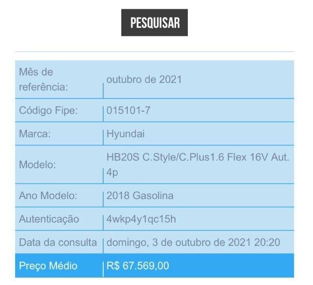 Hyndai HB20 S - Automático - Completo - Foto 16