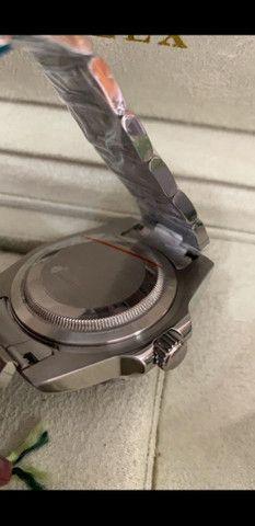 Relógio Rolex Submariner Fundo Preto Automático a prova d'água Completo - Foto 4