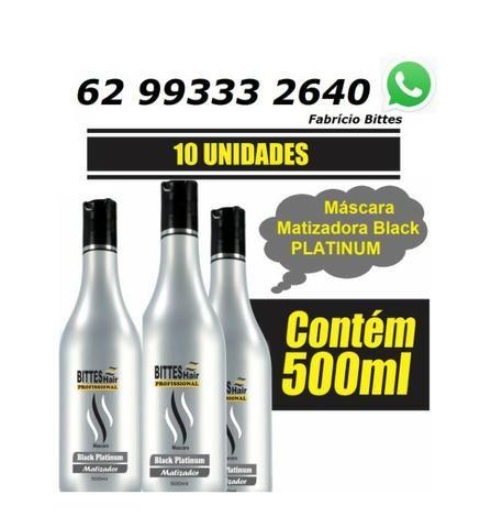 Black Platinum Matizador Bittes Hair 500 ml Cabelos Matizados e Hidratados Acinzentados