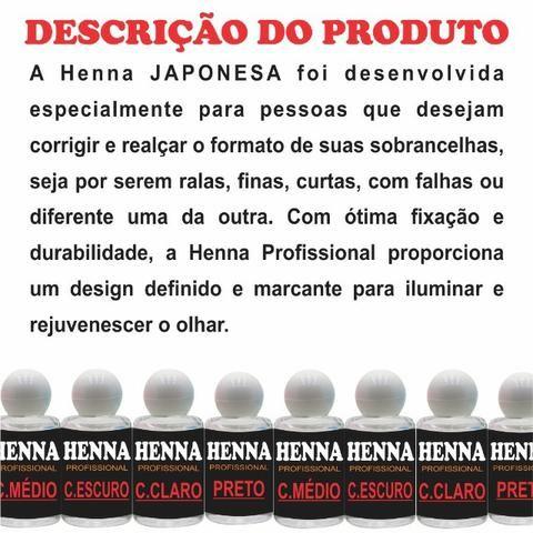 20 Hennas Para Sobrancelha Designer Profissional Alto Poder de Fixação atacado pra revenda - Foto 3