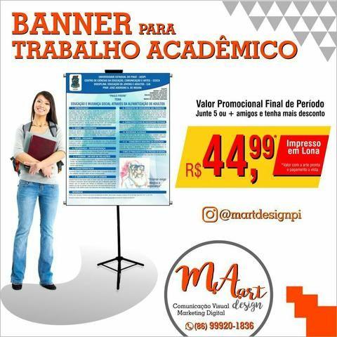 Banner para Trabalho Acadêmico, Faculdade