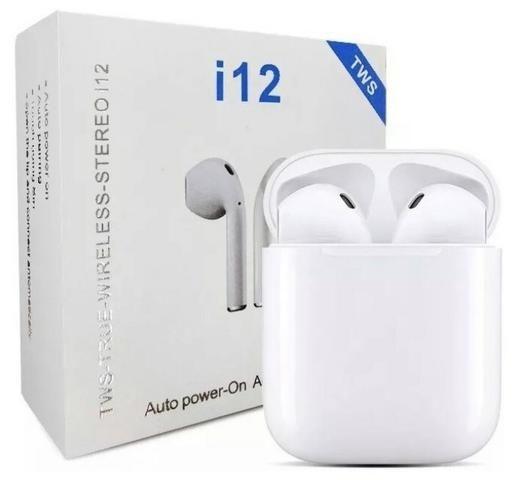 Fone de Ouvido EarPods I12s Bluetooth Android celular