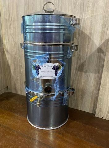 Panela para suco de uva 20kg toda em inox (nova)
