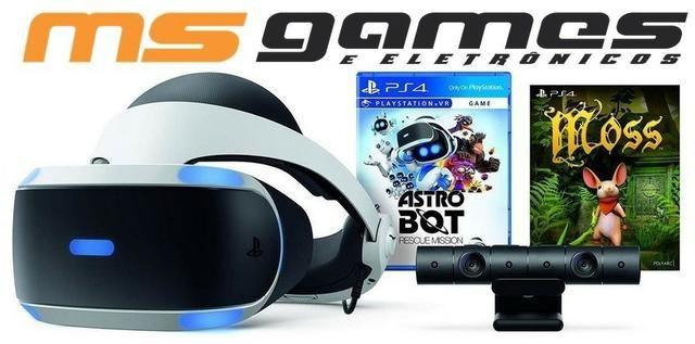 eb8ea33c2 Playstation VR PS4 Oculos Realidade Virtual Bundle Astro Modelo Novo ZVR2  Pronta Entrega