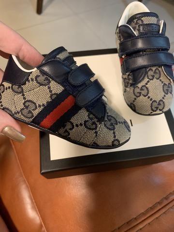 6ab37ae61bd Tênis Gucci Baby masculino - Original - Pouco Usado - Artigos ...