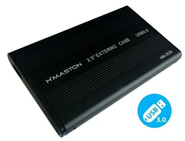 (NOVO) Case 3.0 Externa Hd Sata Ssd Notebook 2.5 Xbox One Ps4