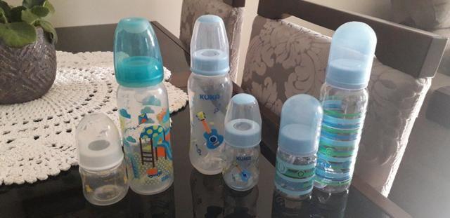 Maquina de tirar leite manual +10 potes de vidro para armazenar leite materno - Foto 3
